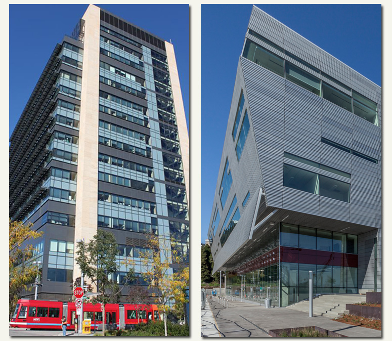 Photos of OHSU Center for Health and Healing and Collaborative Life Sciences Building and Skourtes Tower